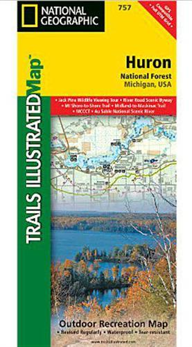 Huron National Forest Trail Map