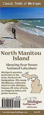 North Manitou Island Sleeping Bear Dunes National Lakeshore Map Guide