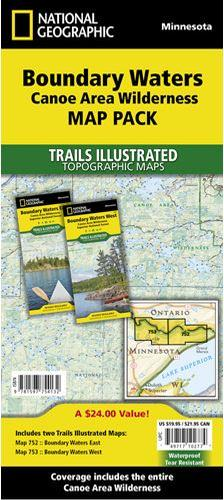 T.I.Boundary Waters Canoe Area Wilderness Map Pack Bundle
