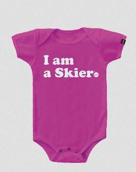 I Am A Skier Onsie - Pink