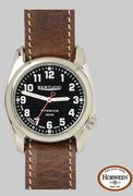 A-2T Original Classic Lithium - Onyx Black Gloss - Horween nut Brown Band