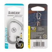 Slidelock Carabiner # 3 - Stainless Steel