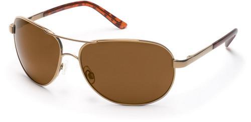 Aviator Sunglasses - Gold/Brown