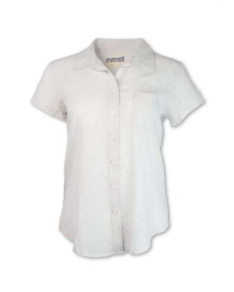 Women's Ss Pinstripe Shirt
