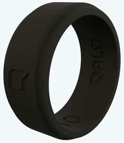 Men's Black Step Edge Q2x Silicone Ring