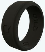 Men's Black Step Edge Q2X Silicone Ring