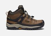Youth Targhee Mid Waterproof - Dark Earth/Golden Brown