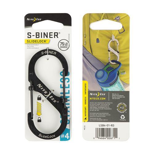 S- Biner Slidelock # 3- Stainless Steel