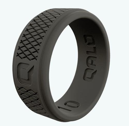 Step Edge Crosshatch Dark Grey Q2x Silicone Ring