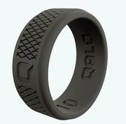 Step Edge Crosshatch Dark Grey Q2X Silicone Ring