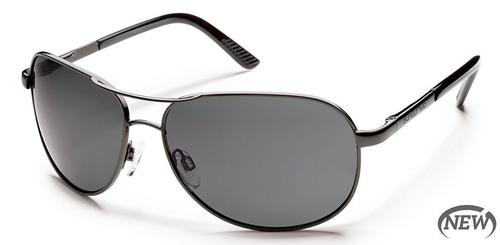 Aviator Sunglasses - Gunmetal/Gray