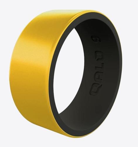 Metallic Strata Gold And Black Silicone Ring