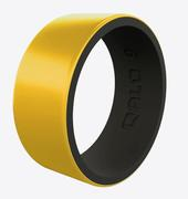Metallic Strata Gold and Black Silicone Ring