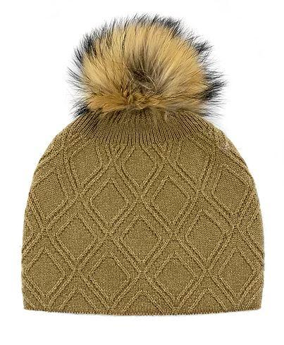 Women's Lurex Knitted Hat With Pom