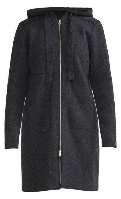 Women's Amber Coat Knitted Coat In Wool Blend