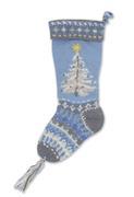 Blue Christmas Tree Stocking