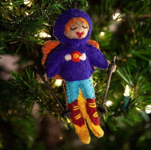 Colorado Skier Fairy Ornament