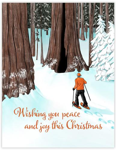 Snowshoe Christmas Card