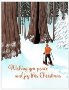 Snowshoe Christmas Card