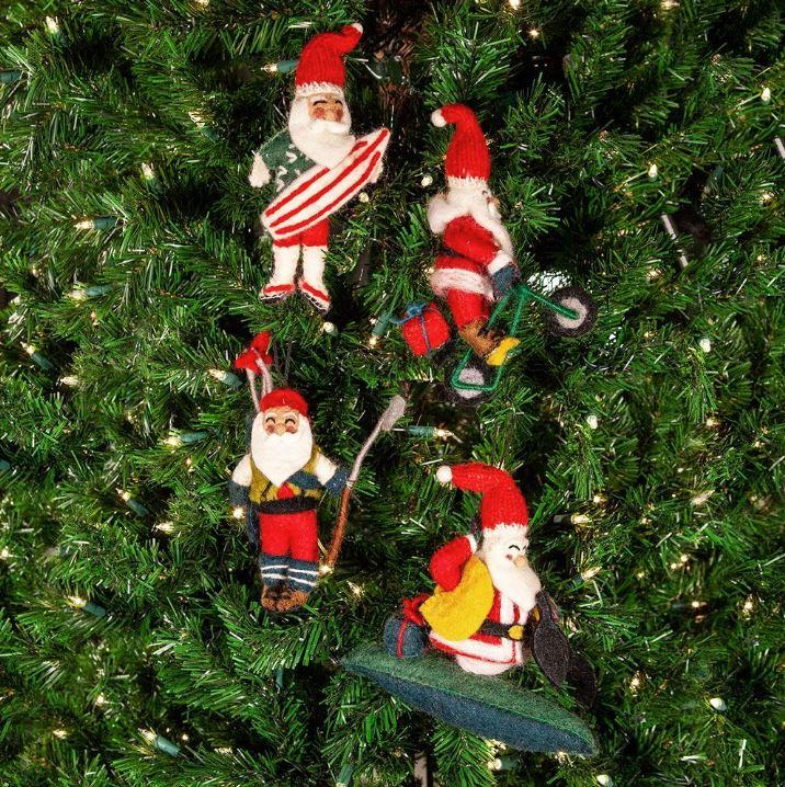 Summer Santa Ornaments