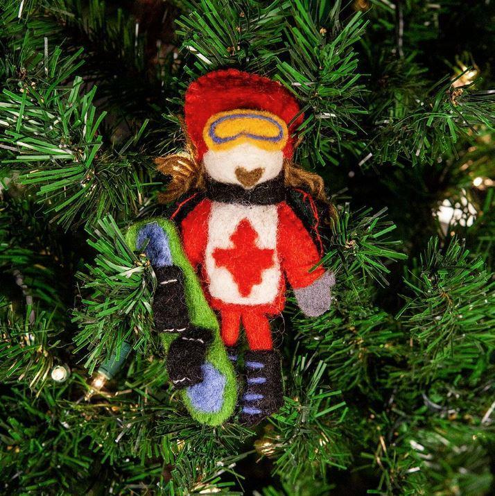 Canadian Snowboard Fairy Ornament