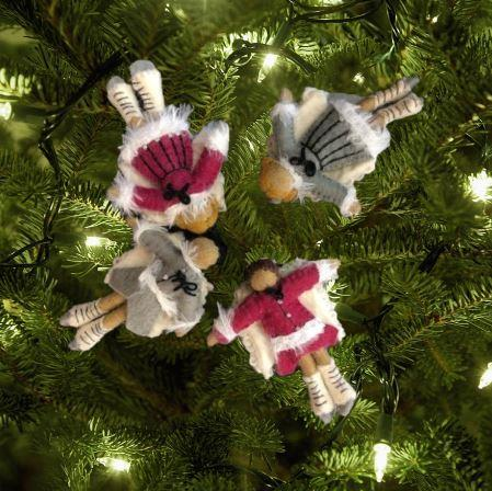Skating Angel Ornaments