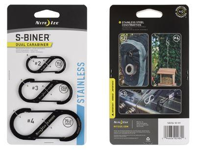 S- Biner 3 Pack - Black