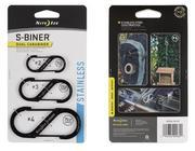 S-Biner 3 Pack - Black