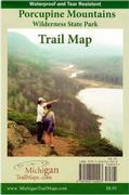 Porcupine Mountains Wilderness State Park Trail Map (Waterproof)