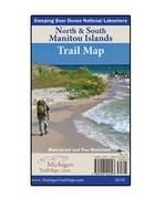 Waterproof North and South Manitou Island Map