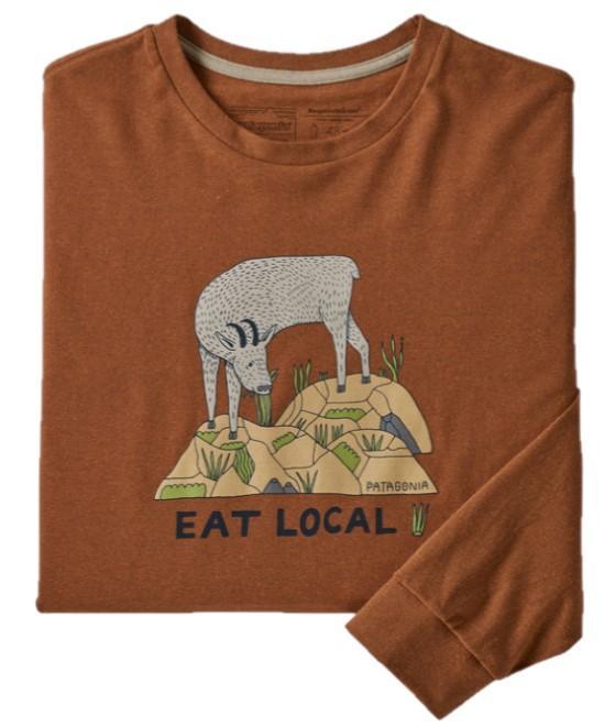 Men's Long Sleeved Eat Local Goat Responsibili- Tee