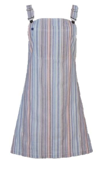 Women's Multi- Stripe Overall Dress