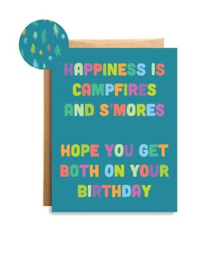 Happiness And S ' Mores Birthday Card
