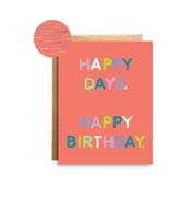 Happy Days Birthday Card