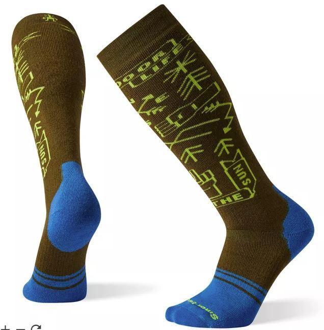 Phd ® Snow Medium Park Vibes Pattern Socks