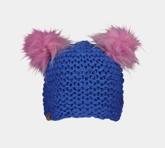 Kid's Glen Faux- Fur Pom Hat