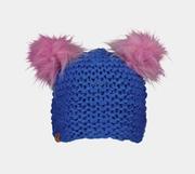 Kid's Glen Faux-Fur Pom Hat