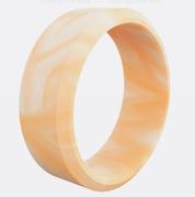 Modern Tangerine Quartz Silicone Ring