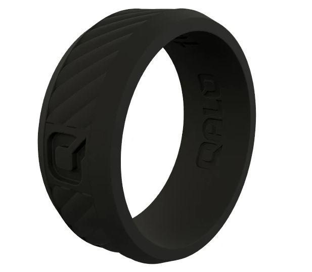 Men's Traverse Black Silicone Ring