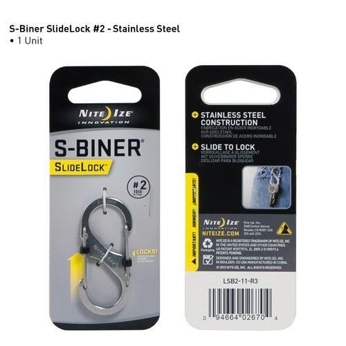 S- Biner Slidelock # 2 - Stainless Steel