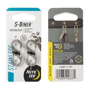S- Biner Microlock 2 Pack - Stainless Steel