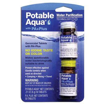 Potable Aqua With Pa + Drinking Water Germicidal Tablets