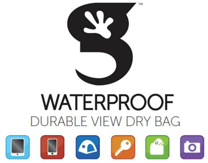Waterproof durable view dry bag.
