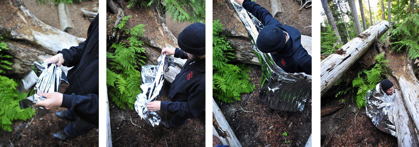 How to use the Emergency Space Blanket from Grabber.