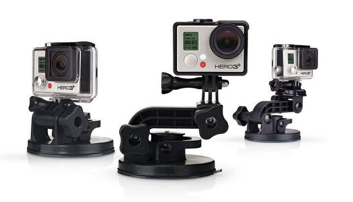 Different ways to mount the GoPro Suction Cup Mount.